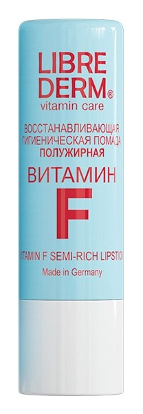 Гигиеническая помада LIBREDERM Vitamin F Semi Rich