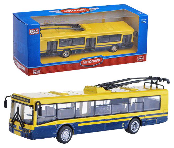 Купить Машинка инерционная, металлическая Троллейбус 1:72 Автопарк Play Smart, PLAYSMART, Городской транспорт
