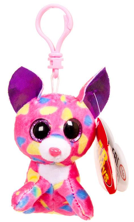 Мягкая игрушка ABtoys Котенок розовый, на брелке 8 см Котенок розовый, на брелке 8см