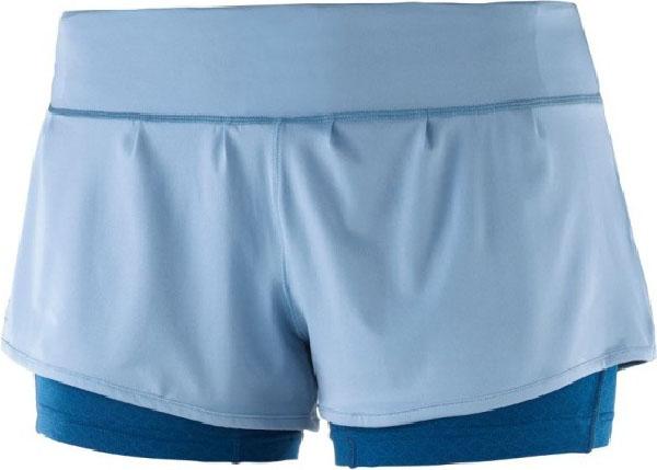 Шорты Salomon Elevate Aero женские голубые XS
