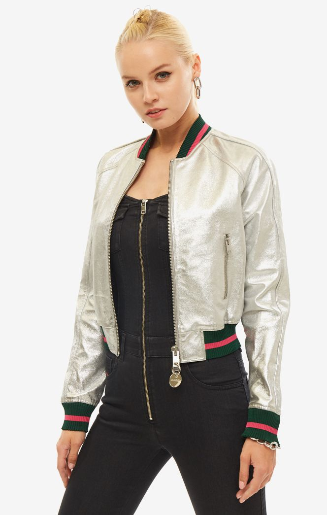 Куртка женская Diesel серебристая