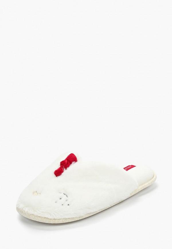 Домашние тапочки женские Halluci Цыплята белые 38-39 RU фото