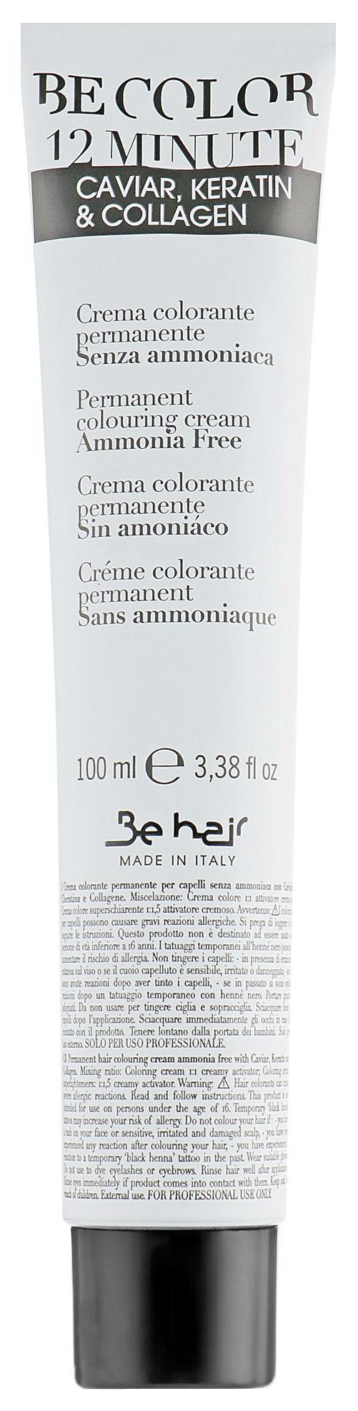 Краска для волос Be Hair Be Color 12 Mineute 7.6 Blonde Red 100 мл