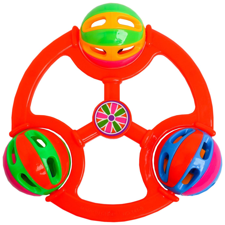 Купить Погремушка Бубенчик 3 шарика, цвет Крошка Я, Погремушки