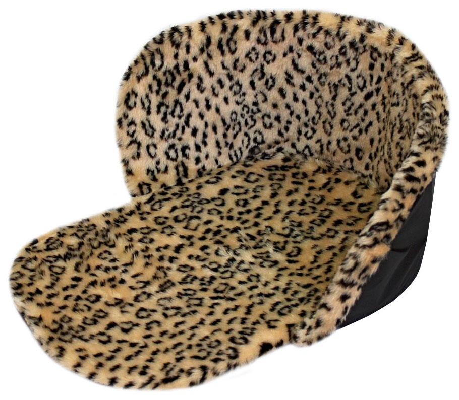 Утеплитель меховой для санок Леопард