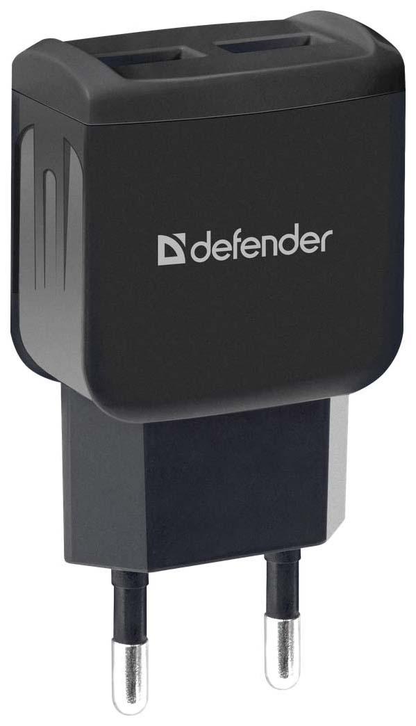 Сетевой адаптер питания Defender UPA-22 зарядка 2.1А 2 USB-порта, чёрная  - купить со скидкой