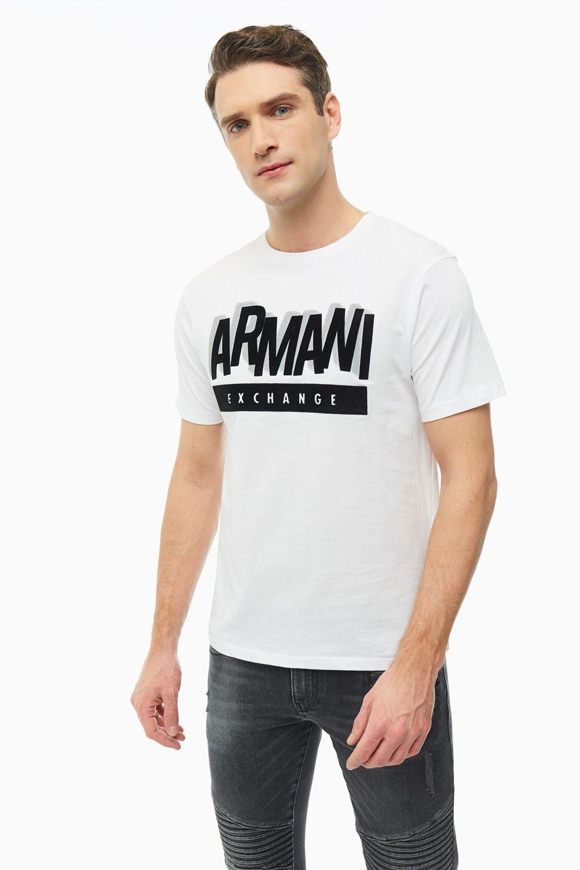 Футболка мужская Armani Exchange 6GZTEA ZJN7Z 1100 белая XL фото