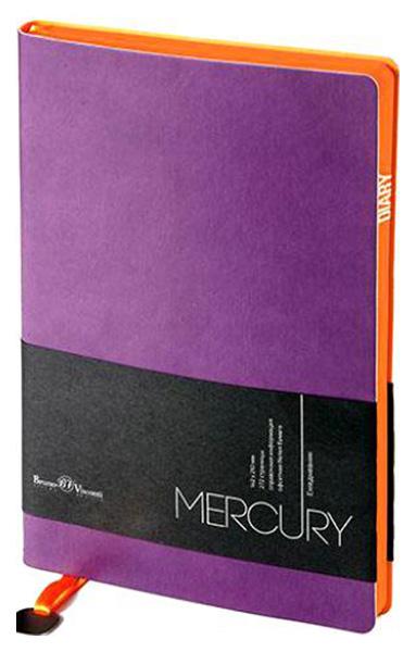 Ежедневник недатированный Альт «Mercury» , А5, 136 листов, фиолетовый