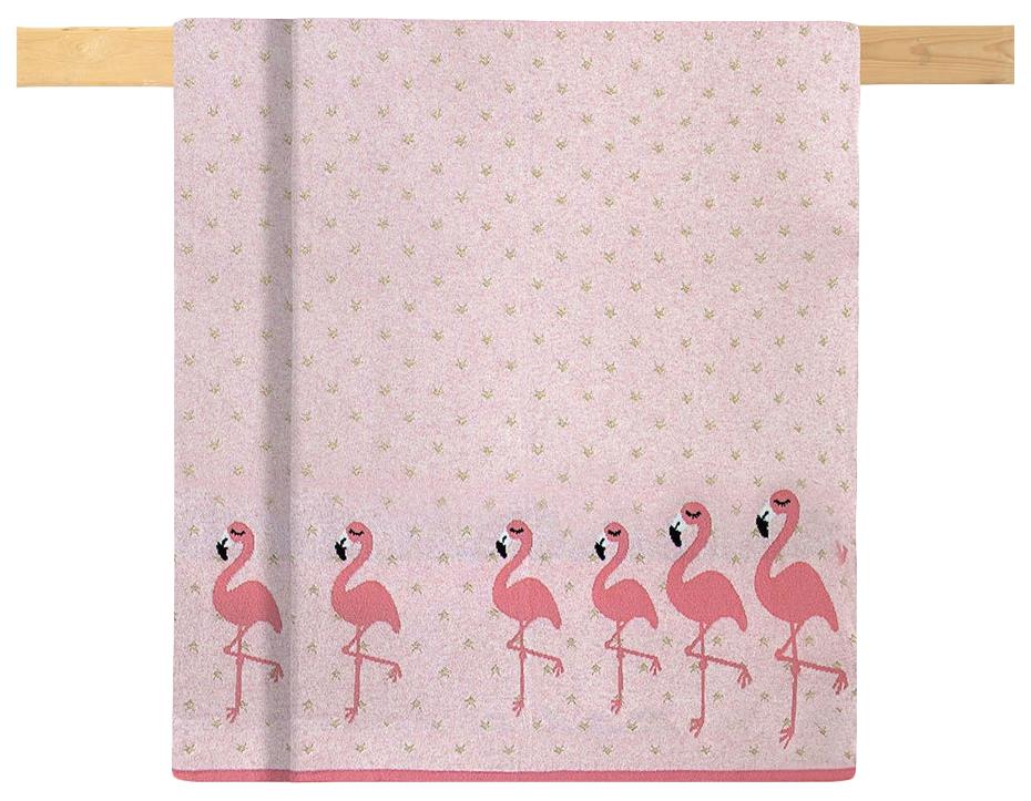 Купить Одеяло Bizzi Growin (Биззи Гровин) Flamingo 75*100 вязанное BG032, Одеяла для новорожденных