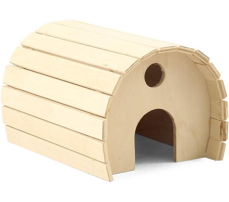 Домик GAMMA деревянный цилиндрический для мелких животных