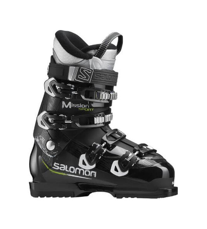 Горнолыжные ботинки Salomon Mission Sport 2018, black/white/acid grey, 27 фото