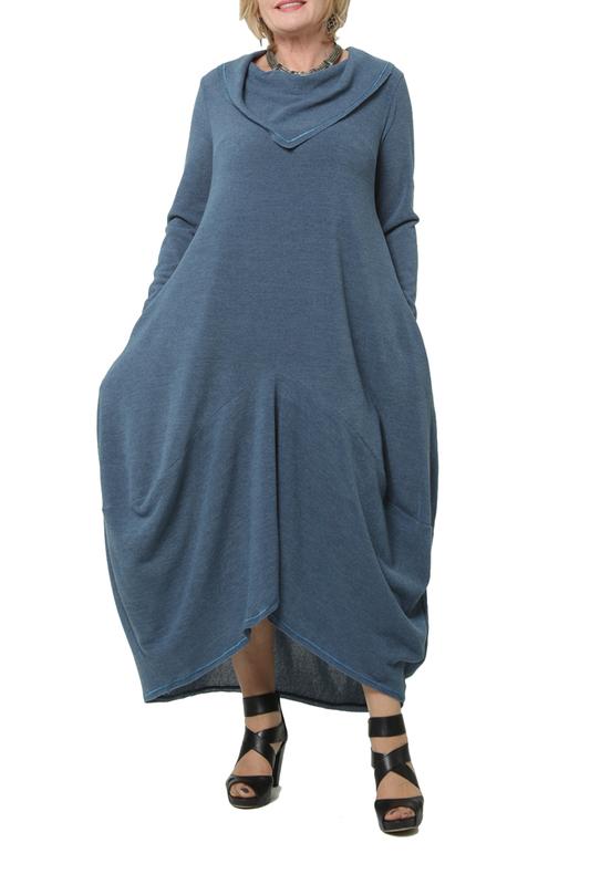 Платье женское KATA BINSKA BRET 190820 синее 52-54 EU фото