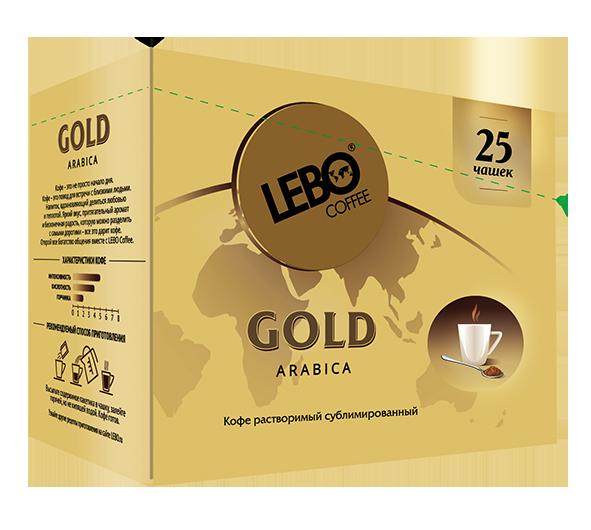 Кофе растворимый Lebo gold 2 г 25 пакетиков