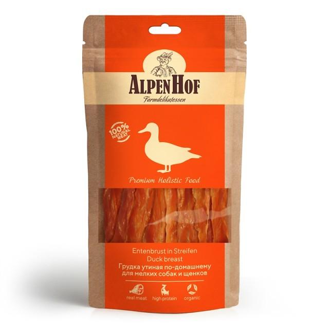 Лакомство для собак AlpenHof Грудка утиная по-домашнему, для мелких пород, 50г фото