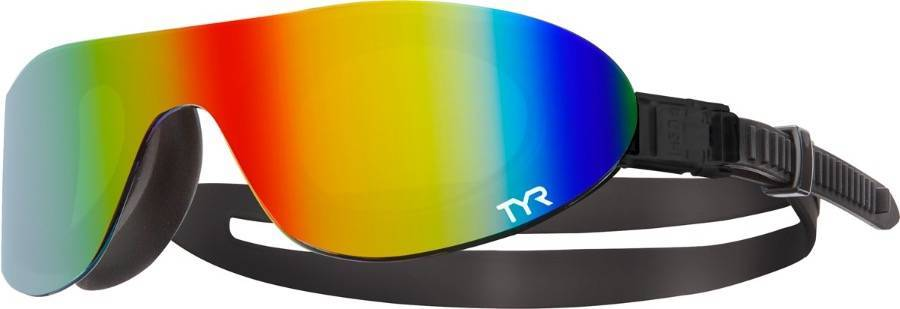 Очки-полумаска для плавания TYR Shades Mirrored LGSHDM разноцветные (969) фото