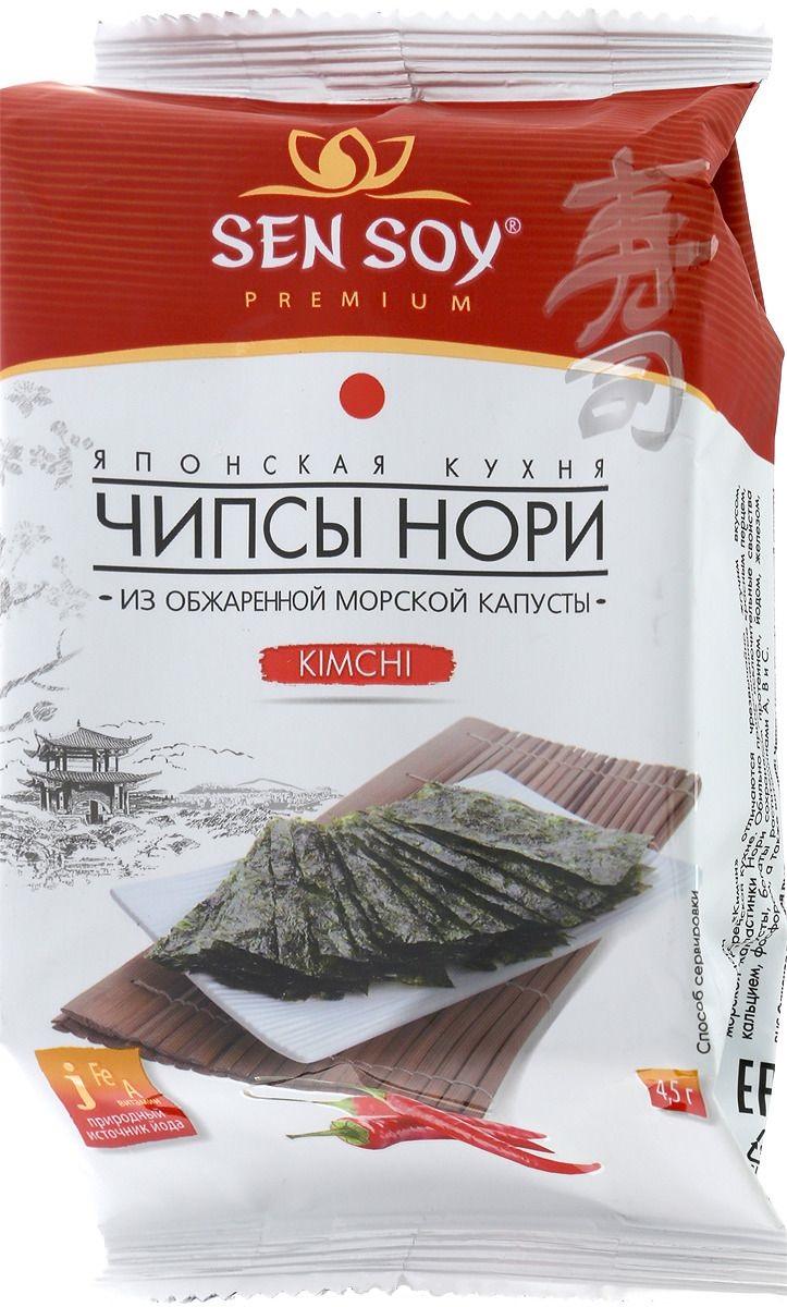 Чипсы нори kimchi Sen Soy из морской капусты 4.5 г