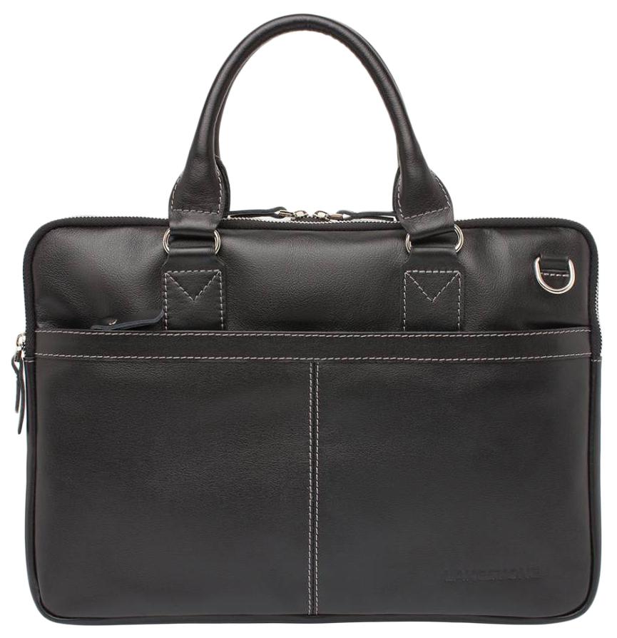 Портфель мужской кожаный Lakestone Cromwell черный фото