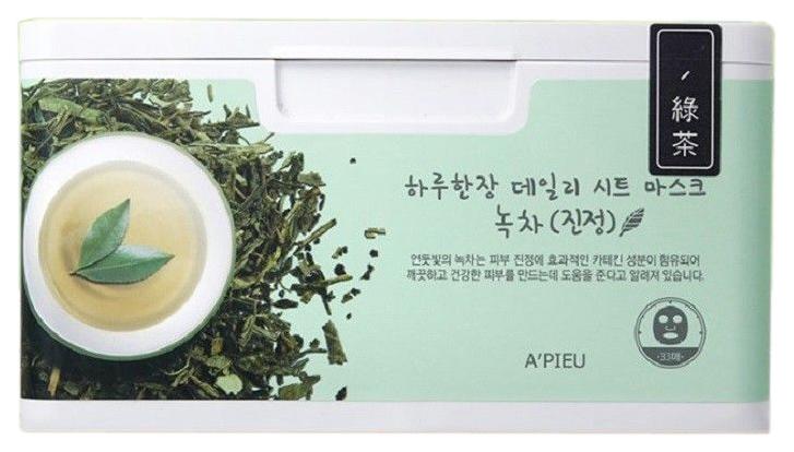 Маска для лица A\'Pieu Daily Sheet Mask Green Tea Soothing 350 г