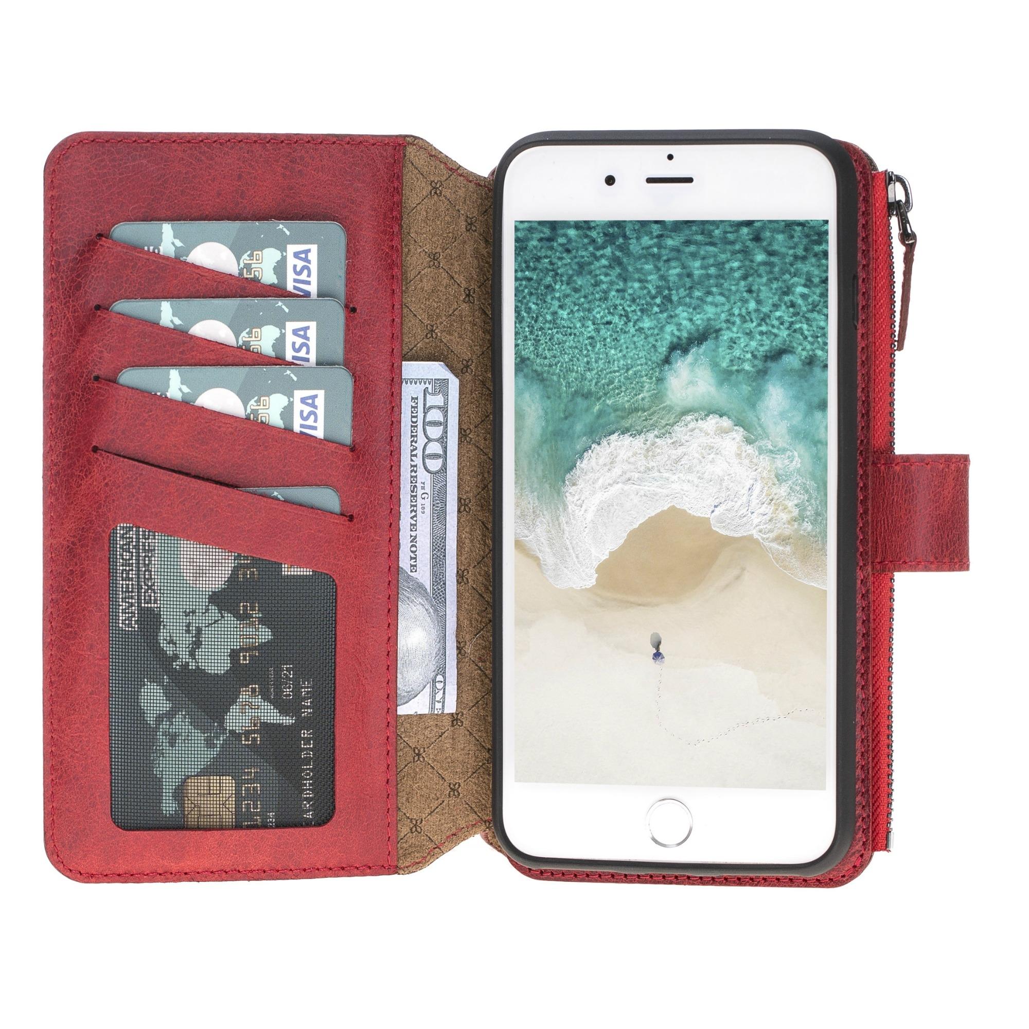 Чехол ZipMagic Wallet Bouletta Бордовый TN7 для Iphone 7/8 Plus