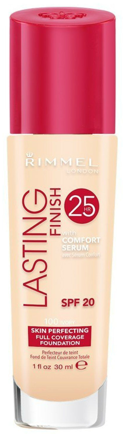 Тональный крем Rimmel Lasting Finish with Comfort Serum 100 Ivory 30 мл