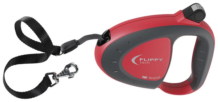 Рулетка для собак Ferplast Flippy Tech Medium Красный 0133106008