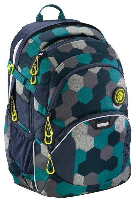 Рюкзак школьный Coocazoo JobJobber2 Blue Geometric Melange синий Бирюзовый