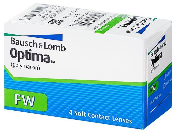Купить Контактные линзы Optima FW 4 линзы R 8, 7 -5, 50