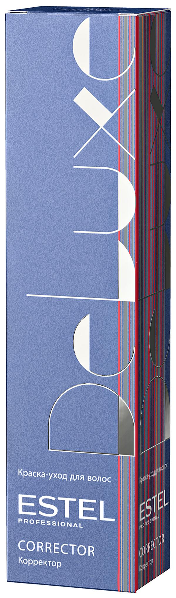 Краска для волос Estel Professional De Luxe 60 мл Корректор 0/11 Синий фото