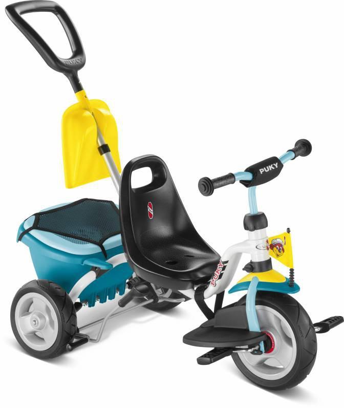 Купить Трехколесный велосипед Puky CAT 1SP белый, синий, Велосипед трехколесный Puky CAT 1SP белый/синий, Детские велосипеды-коляски