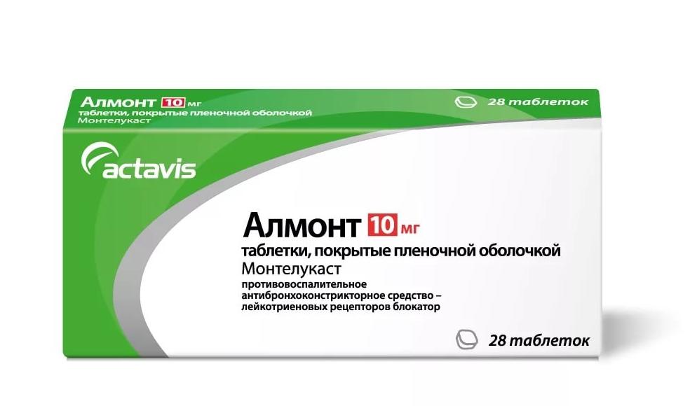 Купить Алмонт таблетки 10 мг 28 шт., Actavis