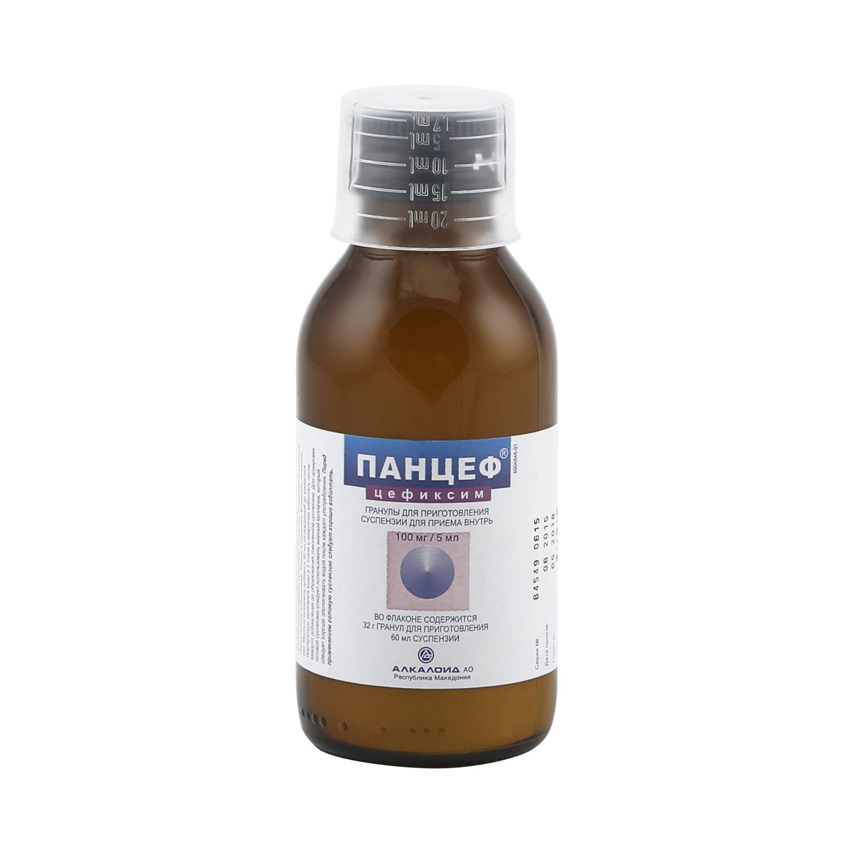 Панцеф гранулы для приг.сусп. 100 мг/5 мл 60 мл