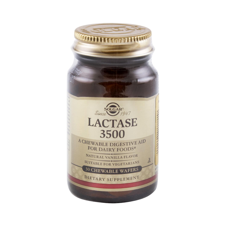 Купить Лактаза 3500 Solgar таблетки 1000 мг 30 шт.