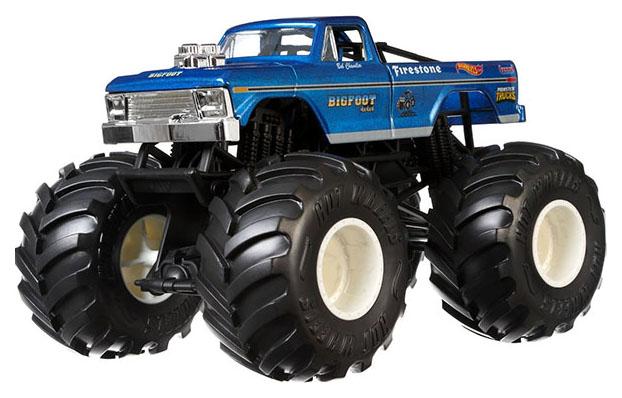 Купить Внедорожник игрушечный Mattel Hot Wheels GBV32 Хот Вилс Монстр трак 1:24 Снежный Человек, Игрушечные машинки