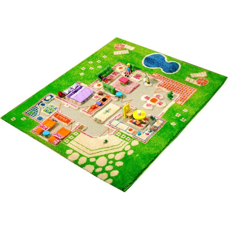 Детский игровой 3D-ковер Домик, зеленый, 80 х 100 см