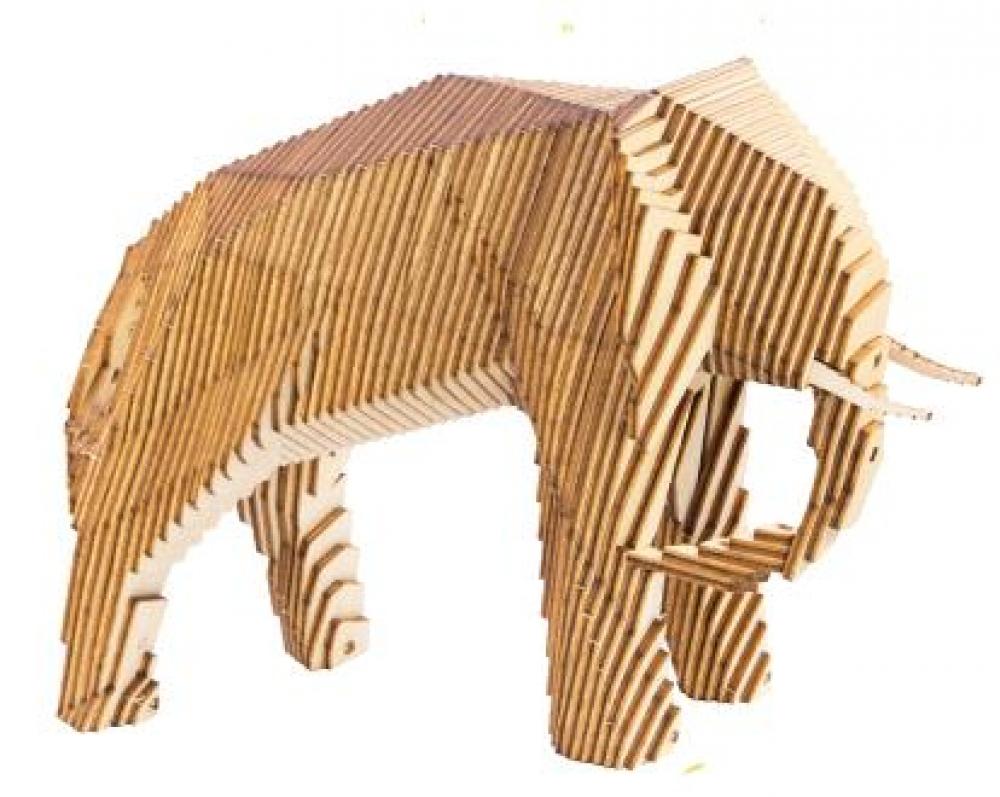 Купить Конструктор деревянный Uniwood Параметрический слон, Деревянные конструкторы