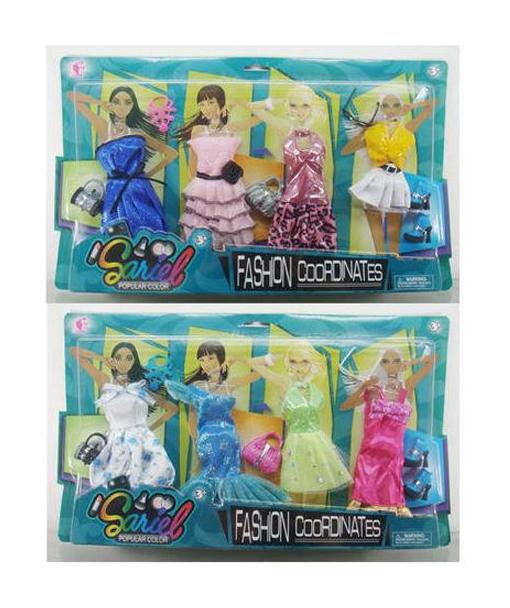 Купить Набор одежды и аксессуаров Junfa Toys Fashion Cooronates, для куклы высотой 29 см 3312-A, Одежда для кукол