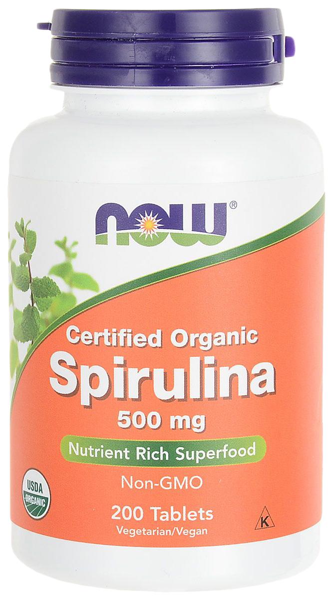 Купить Витаминный комплекс для зрения NOW Spirulina 500 мг таблетки 200 шт.