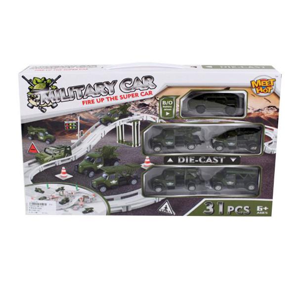 Купить Автотрек Наша игрушка электрифицированный Военный MH-003, Детские автотреки