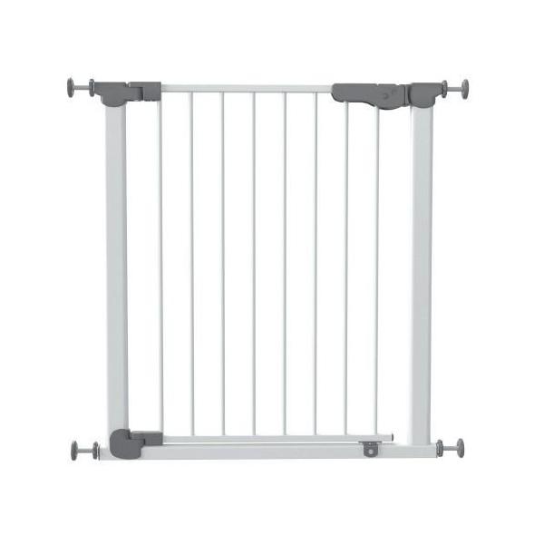 Safe&care ворота мелалл 73-80,5 см белые