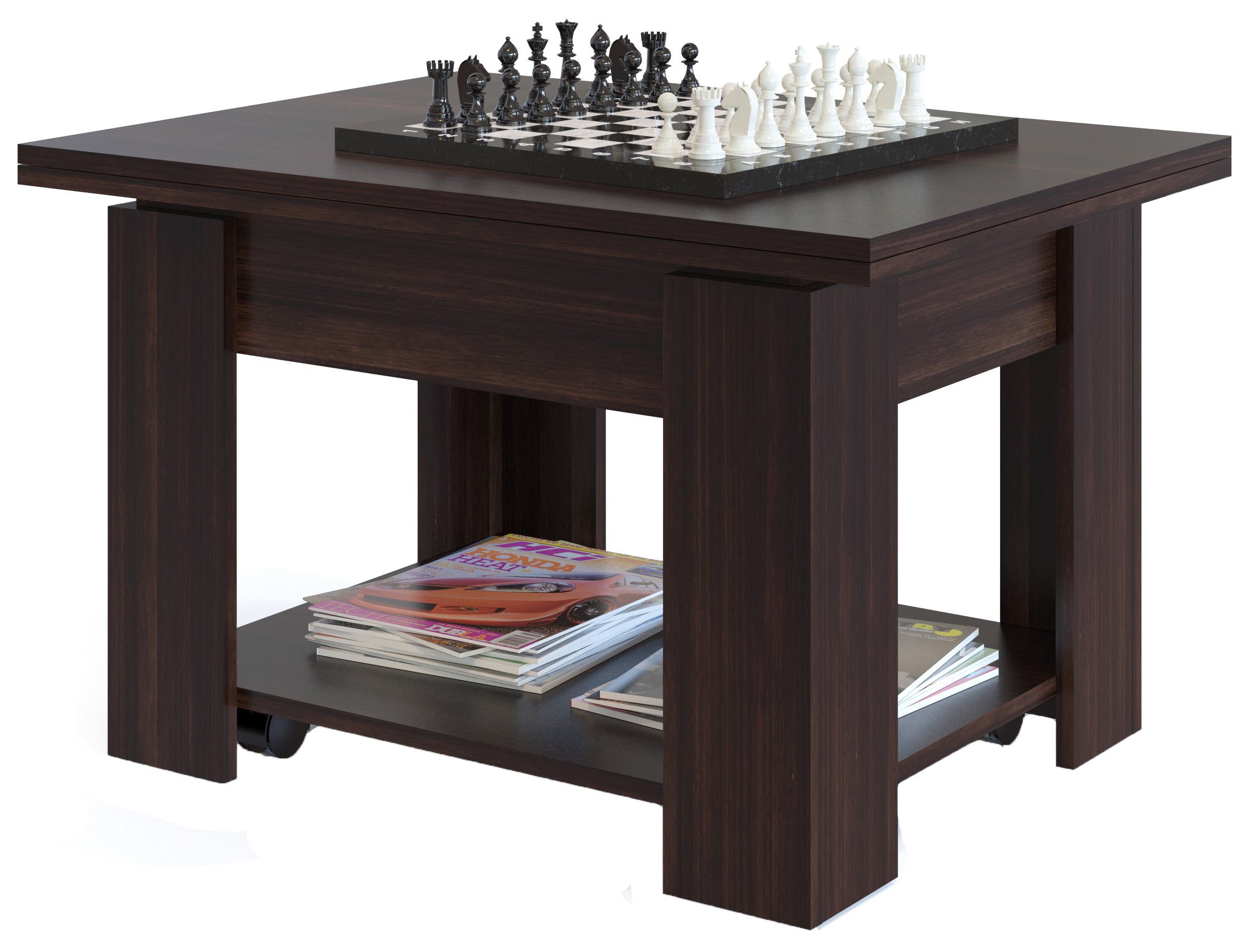 Журнальный стол СОКОЛ 45х120х80 см, коричневый фото