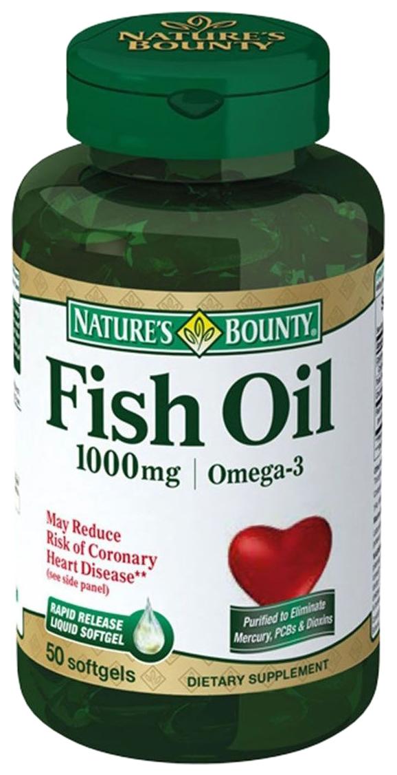 Купить Рыбий жир 1000 мг 50, Нэйчес Баунти рыбий жир капсулы 1000 мг 50 шт., Nature's Bounty