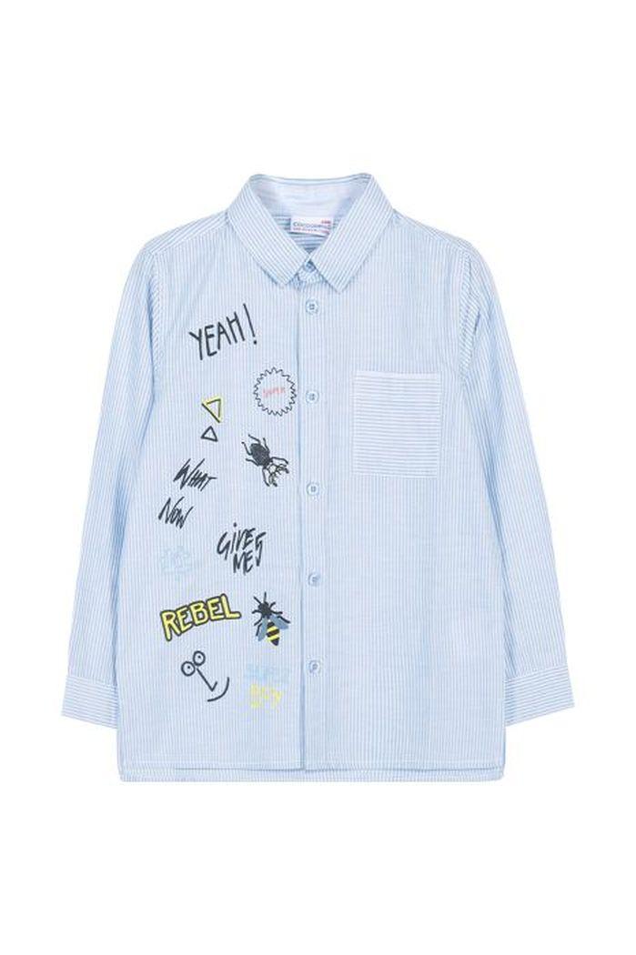Купить W19136101KIC, Рубашка для мальчиков COCCODRILLO р.116, Детские блузки, рубашки, туники
