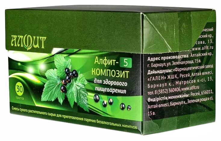 Купить Фитосбор Алфит-5 Композит Для здорового пищеварения, 30 ф/п х 2 г, Фитосбор Алфит-5 композит для здорового пищеварения ф/п 2 г 30 шт.