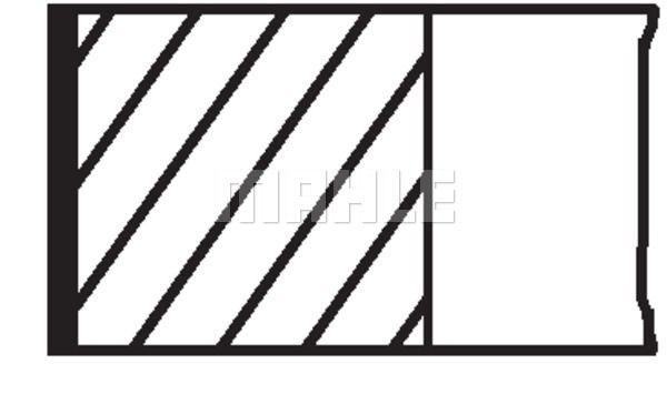 Комплект поршневых колец MAHLE 008 56 N1