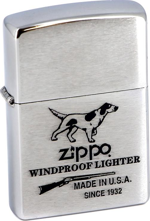 Бензиновая зажигалка Zippo №200 Hunting Tools Brushed Chrome