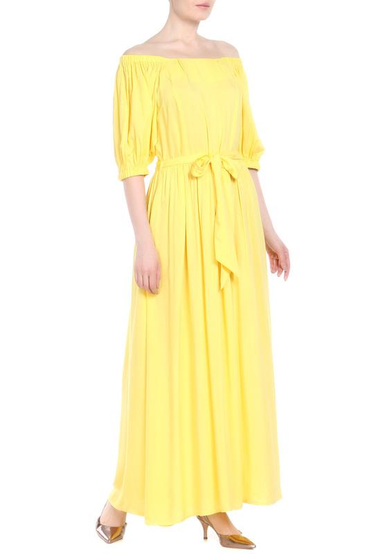 Платье женское МадаМ Т желтое 42 фото