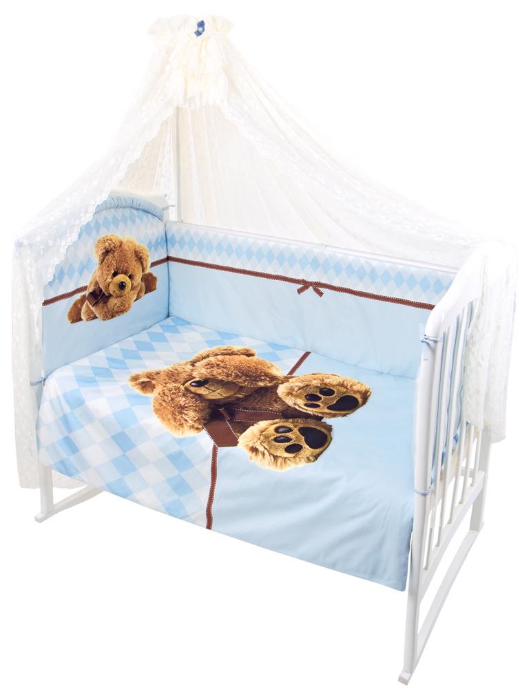 ЗОЛОТОЙ ГУСЬ Комплект в кроватку Я Спрятался (цвет: голубой, 7 предметов) 1742