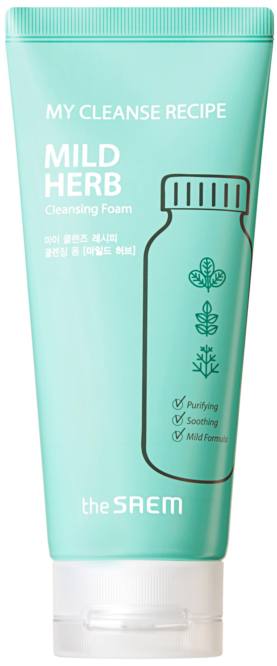 Купить Пенка для умывания The Saem My Cleanse Recipe Cleansing Foam Mild Herb, 150 мл