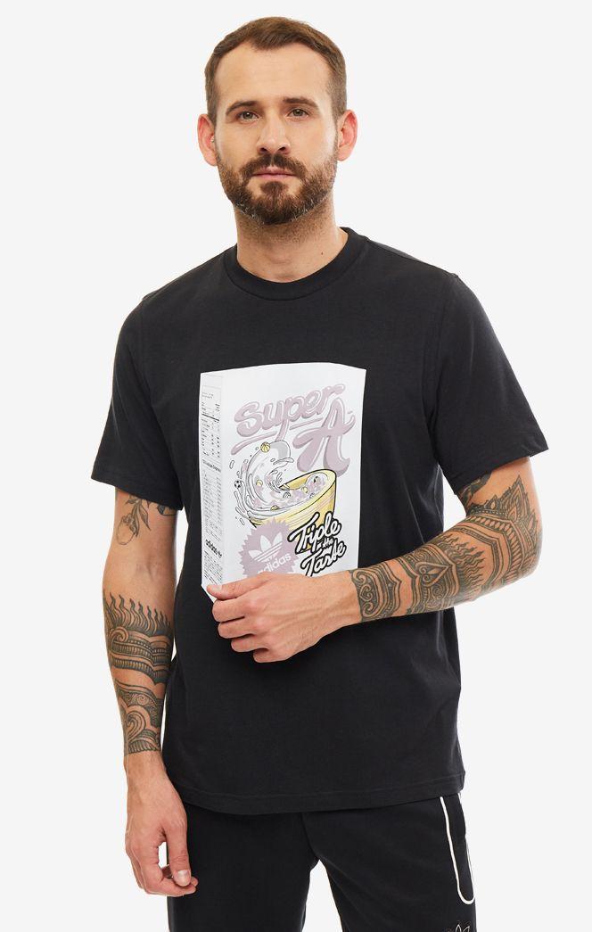 Футболка мужская adidas Originals ED7058 черная/разноцветная XS