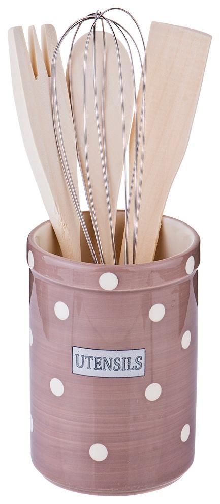 Подставка для столовых приборов Lefard Pink Utensils